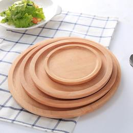 platos de horno de cerámica Rebajas Placas de madera en rollo de sushi creativo Postre Frutas platos Titular de té servidor Copa hotel Bandeja Tazón Pad Vajilla Herramientas TTA1943-1