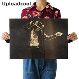 2019 sinais da sala de escritório Uploadcool_ Michael Jackson / nostálgico retro star kraft papel cartaz / sala de estar quarto decorado flor 51x35.5 centímetros Pago