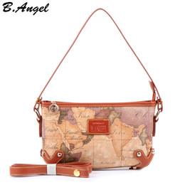 Saco de mapas mundiais on-line-Alta qualidade sacos de ombro saco mapa do mundo mulheres mulheres mensageiro saco sacos de moda bolsas especiais mulheres de marcas famosas