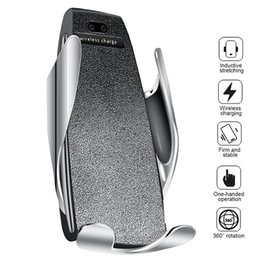 iphone 4s tragbare ladegeräte Rabatt 10W Wireless Car Charger S5 Automatische Klemmung Schnellladung Handyhalter Halterung im Auto für iPhone xr Huawei Samsung Smart Phone