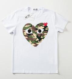 Canada Vente chaude été Hommes T-shirts De Luxe Femmes T-shirt marque Haute Qualité 100% coton Tees À Manches Courtes Coeur Imprimer T-shirt Drôle Offre