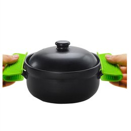 Backofenhalter online-heißen Ofen Mini-Handschuhe Silikon Süßigkeit Farbe Hitzebeständige Antiverbrühschutz Handschuhe für Koch Clamp Topflappen und PotholdersKitchenwareT2I5550
