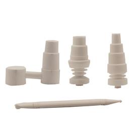 Dabber universel en Ligne-Universal 6 en 1 4 en 1 ongles en céramique Conseils Dabber verre d'eau Bongs Banger ongles VS Titane Quartz Banger ongles