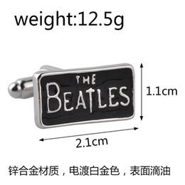 Presentes beatles on-line-Fashon Metal banda de rock The Beatles Abotoaduras Cuff Links para homens camisas vestido de terno Cuff links jóias presente de Natal
