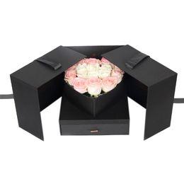 regalos bolsa de botín Rebajas Forma Caja de regalo de la flor DIY Cubo Caja de regalo innovador Aniversario de boda del cumpleaños Día de San Valentín sorpresa