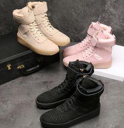 2020 sapatos altos brancos MEDO DE DEUS Militar High Top-Sneakers preto branco couro Botim Nevoeiro Jerry Lorenzo Kanye tênis de nylon preto sapatos altos brancos barato