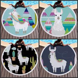 2019 panos de família Impressão de fibra de praia de alpaca preguiçoso esteira de piquenique da família de fibra superfina verde azul terry pano bonito adorável toalhas de banho 24hraD1 desconto panos de família
