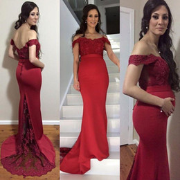 f3e29dd84 vestido de fiesta para embarazada roja Rebajas 2019 Nueva Sexy Embarazada  Vestidos de Noche Rojo Oscuro
