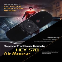 2019 vc lcd tv W1 Keyboard Mouse 2.4G Wireless Fly Air Mouse Control de larga distancia Control remoto de aire recargable para Android Tv Box Tablet Pc Notebook