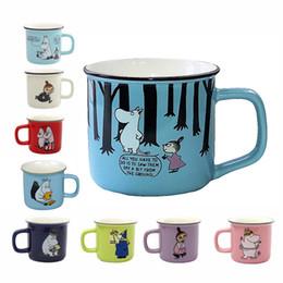 Amore doni cina online-9 stili Moomin Caneca Piccola Mi bel regalo di caffè tazze di latte Acqua colazione Copo Tea Cute Cartoon Sweet Love Teacup Viaggi