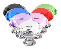 2019 antike kupferschublade griffe 30mm diamantform Kristallglas Legierung Tür Schubladenschrank Kleiderschrank Ziehgriff Knöpfe Drop Worldwide Shop