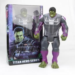Bambola di gomma online-Il più nuovo giocattolo della bambola di Hulk enorme 12 pollici viene con l'imballaggio della scatola dei colori Regali dei bambini di Supereroe di Marvel