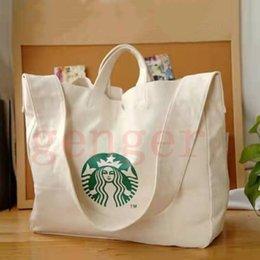 bolsas de cor branca Desconto 2019 sacos de lazer Saco Mummy Canvas comerciais 2020 Designer-Starbucks Mensageiro Ombro Grande Shoulder Bag Mensageiro Bag1cd3 #