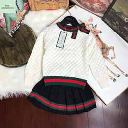 children korean clothing style Coupons - Children's Garment Girl Autumn baby Clothing set 2018 New Pattern Korean Twinset Children In Will Child Western Style Sweater Suit
