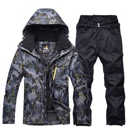 Canada Vêtements de snowboarding professionnel noir gris homme costume de ski ensembles imperméables coupe-vent hiver costumes de plein air manteaux de neige + pantalons supplier snow pants Offre