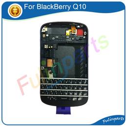 parties de mûre Promotion Noir / Blanc Pour BlackBerry Q10 Pleine Protection Arrière + Pièces de Rechange Clavier avec Outils