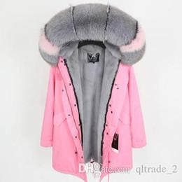 Dame Frauen Winter Pelz Winterjacke 2017 Oberbekleidung Für Faux Parka Warme Mantel Rosa Armee Grün Parkas Russische Mit Pelzhaube Futter F5TlcuKJ13
