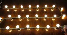 Скачки полосы света Сид 18bulbs 3М 24В пульт дистанционного огни строки шатер напольный водоустойчивый свет водопад лампы E27 светодиодные лампы от