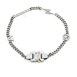 2019 rosario di cristallo bianco collana Bracciale Catena in metallo Uomo Donna Hip Hop Lightning Accessori da esterno Collana Smile