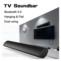 Systèmes de haut-parleurs bluetooth pour la maison en Ligne-20W Bluetooth 5.0 TV Barre de son Haut-parleur sans fil Stéréo Home Cinéma Hifi Colonne Surround USB Système de sono Fixé au mur Barre de son