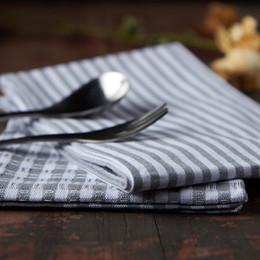 Argentina Japonés simple algodón y lino gris raya paño servilleta mantel toalla del té aislamiento térmico almohadilla foto de fondo conjunto de sermones cheap grey stripe towels Suministro
