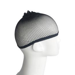 Retine per capelli di buona qualità maglia tessitura parrucca nera capelli netti cappelli, tessitura parrucca cap hairnet trasporto veloce f2738 da