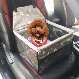 fuente de alimentación de bolsillo Rebajas 1 UNID Travel Dog Car Carrier Seat Bolsa de asiento de perro a prueba de agua cesta cesta productos para mascotas seguro llevar gato cachorro accesorios de viaje 7