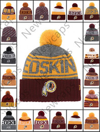 designer fashion fb7be 73a6f sports washington Coupons - Wholesale Washington Sport Winter Hats Redskins  Stitched Team Logo Brand Warm Men