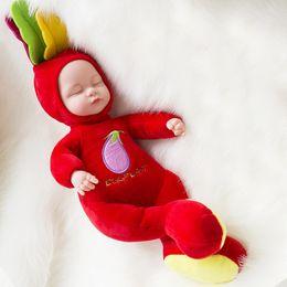 5PCS 25CM Silicone Reborn Alive Babies Mini Stuffed Baby Born Doll Toys For Children  Lifelike Kids Toys Sleep RebornDoll For Kid Toy 3b5956c802e7