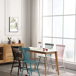 Nordic solid wood dining chair simple modern small apartment furniture Japanese expression dining room