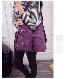 multi compartment handbags Promo Codes - Women Bag Double Shoulder Bag Designer Handbags High Quality Nylon Female Handbag Multi-function and large capacity 522