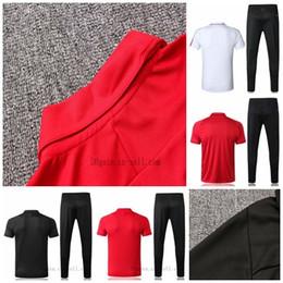 Milan jersey corto online-De primera calidad 18 19 nuevo AC Camiseta de manga corta Polo HIGUAIN Traje de entrenamiento de KAKA Camisetas de fútbol CALHANOGLU Maillot de foot kit de chaqueta