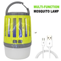 insetti di giardino bug Sconti USB Charging Trappola anti-zanzara LED Night Light Lampada multifunzionale Bug insetto Luci Uccidere Repeller parassiti Home Garden Camping Light