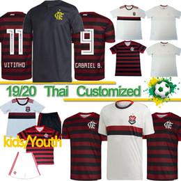 2019 camisetas de fútbol de calidad tailandesa ee. 19 20 flamengo tailandesa Jersey VINICIUS JR flamenca GUERRERO DIEGOSoccer jerseys Flamengo Gabriel B hombre de fútbol deportes camisa de la mujer TOP