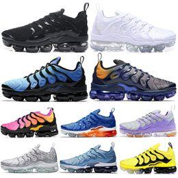 new products 02168 6ac17 Nike Air Vapormax TN Plus 2019 Olympic TN Plus Laufschuhe Herren Damen  STRING Work Blue Zebra Hummel Fades Blue Betrue Sport Sneakers 36-45 rabatt  air ...