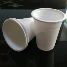 рестораны воды Скидка Разлагаемые 220 мл одноразовые кружки разлагаемые кукурузный крахмал бутылки с водой отель ресторан посуда экологически чистые одноразовые чашки BH1762 TQQ