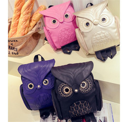 63dbfe3a63e0 2019 Luxury Designer Womens Bags PU Embossed Owl Shoulder Pack Newest Womens  Cartoon Animal Backpack Travel Backpacks Hot Sale Free Shipping