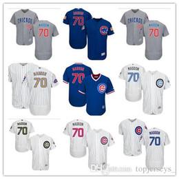 86dc6eecc custom Men women youth Majestic Chicago 2019 Cubs Jersey  70 Joe Maddon Home  Blue Grey White Baseball Jerseys