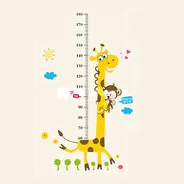 Stickers muraux amovibles d'enfants de PVC grand décalque de diagramme de croissance de taille de girafe de dessin animé pour la décoration de pièce ? partir de fabricateur