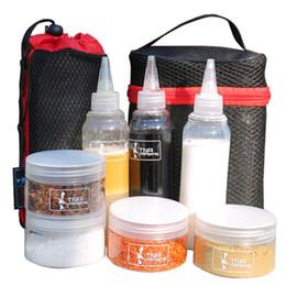 2019 переносные полиэтиленовые пакеты 7 шт./компл. удобный открытый организовать нести мешок для хранения барбекю Sause контейнер пластиковые специи Jar открытый кемпинг бутылки комплект +2 сумки дешево переносные полиэтиленовые пакеты