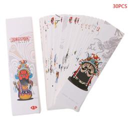 Chinesisches malpapier online-30 stücke Kreative Chinesischen Stil Papier Lesezeichen Malerei Karten Retro Schöne Boxed Lesezeichen Gedenkgeschenke