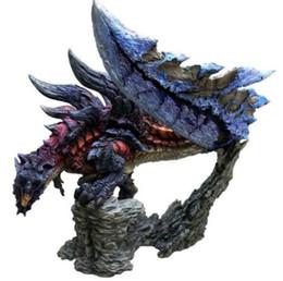 Monster Hunter MHW Dinovaldo Blue Ver. Action Figure Nuova statua originale senza scatola da tessuti per tappi fornitori