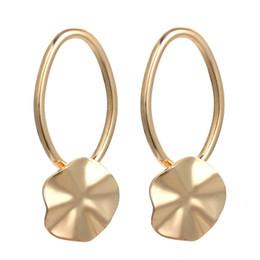 lo stile coreano di modo dell'orecchino all'ingrosso Sconti Orecchini fiore stile coreano colore argento dorato orecchini geometrici Jewlryt della festa nuziale di nuova moda all'ingrosso