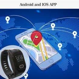 tarjeta sim utilizada Rebajas 2018 Smart Bracelet GPS SOS para ayuda con la tarjeta SIM Smartwatch para teléfonos con Android IOS Uso de dispositivos portátiles Elder Hospital Project