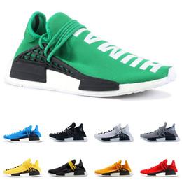 zapatos originales de la raza humana Rebajas adidas Original PW Human Race NMD PHARRELL WILLIAMS hombres mujeres zapatos para correr amarillo rojo azul negro blanco para hombre entrenador zapatillas deportivas cómodas