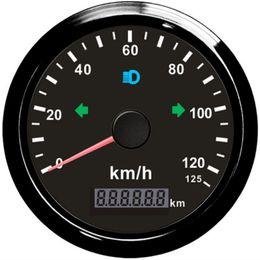 Deutschland Auto Auto 85mm Motorrad GPS Tacho 125km / h Kilometerzähler Gesamtkilometerzähler Einstellbarer Überdrehzahlalarm Mit Gegenlicht cheap motorcycle back light Versorgung