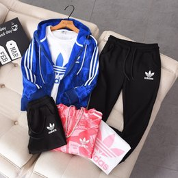 Ropa de niños grandes online-Big Boys Ropa para niños Chica Verano Ropa para niños Traje 2019 Nuevo patrón Motion Sweater Twinset And Fund Baby Set Child Tide 0802b