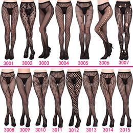 mulheres de seda sexual Desconto Fishnet 2019 NOVO 30 estilos das mulheres Sexy Mulheres Longo Fishnet sexy meias-calça de malha Meias Lingerie pele da coxa alta Stocking ZSFS003