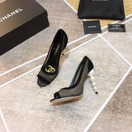 I pattini alti dell'alto tallone online-Top Quality 2019 Luxury Best Vendita al dettaglio all'ingrosso - Scarpe da donna Cerniera con tacco alto Scarpe da punta con tacco a pompa Sandalo da sposa Marca