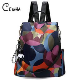 Bonitas mochilas para meninas on-line-Moda Anti Theft Mulheres Viagem Mochila de alta qualidade impermeável Oxford School backpack bonito do estilo School Girls Mochilas